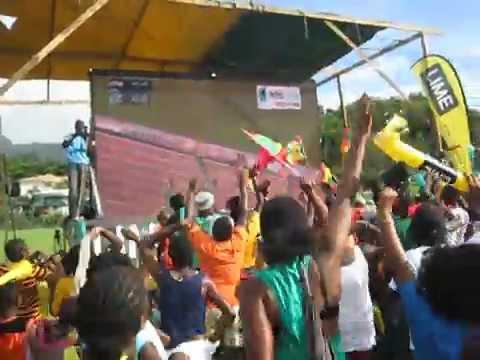 Kirani James wins gold in London - live from Gouyave, Grenada