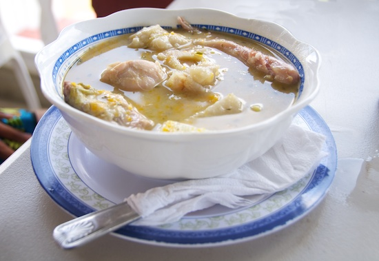 Cow heel and chicken soup, with pigtail by Patrick Bennett
