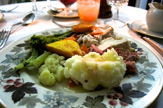 Thanksgiving dinner at Olveston House