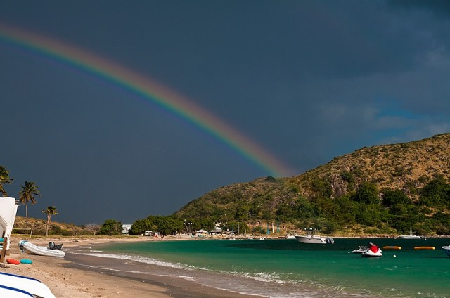 Rainbow at Cockleshell Beach