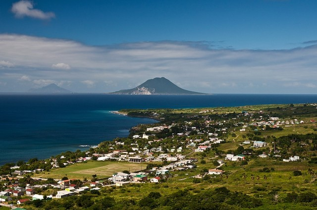 View of St. Eustatius from Brimstone Hill Fortress