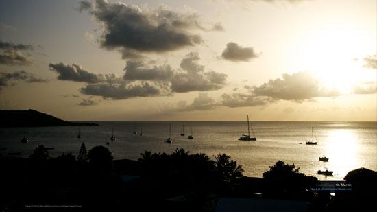 Caribbean Wallpaper Wednesday Sunset Over Grand Case St