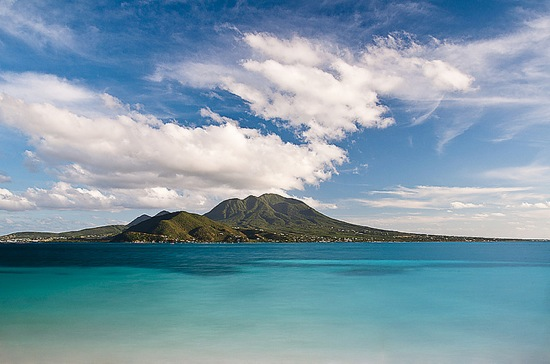 VIEW OF NEVIS FROM COCKLESHELL BEACH, ST. KITTS/HIRAL GOSALIA VIA FLICKR