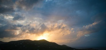 Sunrise over St. Croix after the Storm by Patrick Bennett