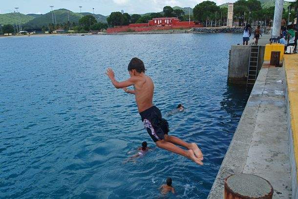 On Site St Croix Re Living The Joy Of Jumping Off Frederiksted Pier St Croix U S Virgin