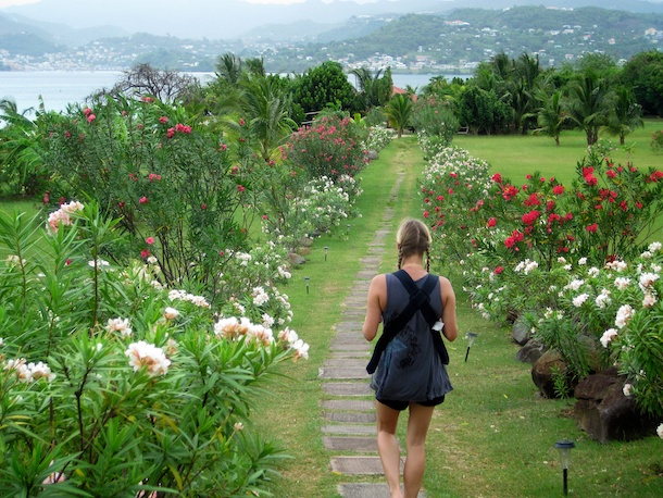 Mount Cinnamon Hotel walking to the beach, Grenada by Patrick Bennett