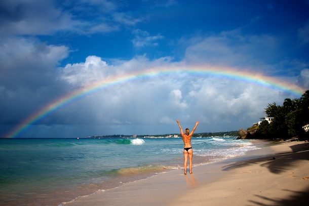 Reaching for the Rainbow, Barbados by Patrick Bennett