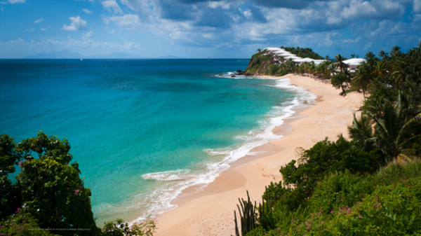 Public Beach at Curtain Bluff, Antigua by Patrick Bennett