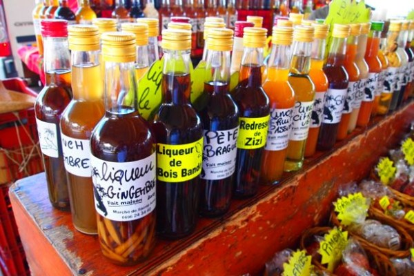 Jany's Assorted liqueurs at Le Marché de Sainte-Anne, Martinique/SBPR