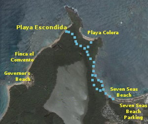 path to secluded beaches