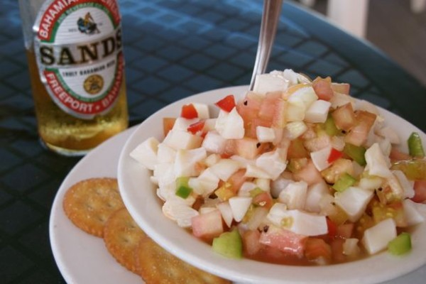 Conch Salad from The Wrecking Tree on Green Turtle Cay, Bahamas/SBPR