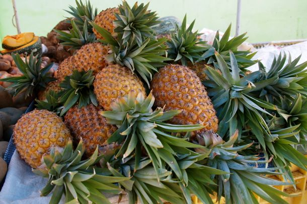 Pineapples in the New Market, Roseau