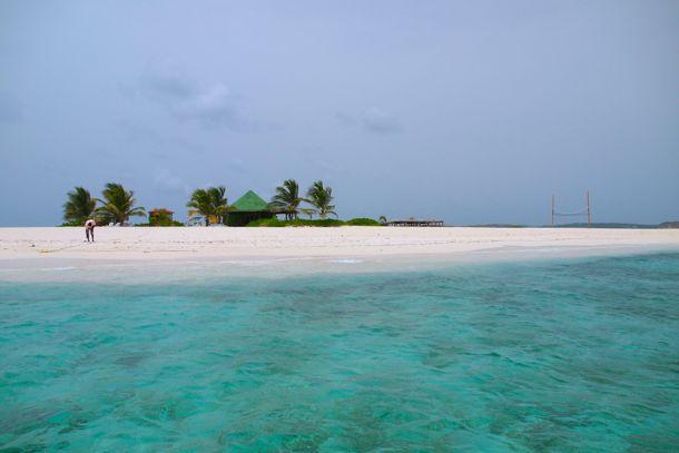 Approaching Sandy Island, Anguilla