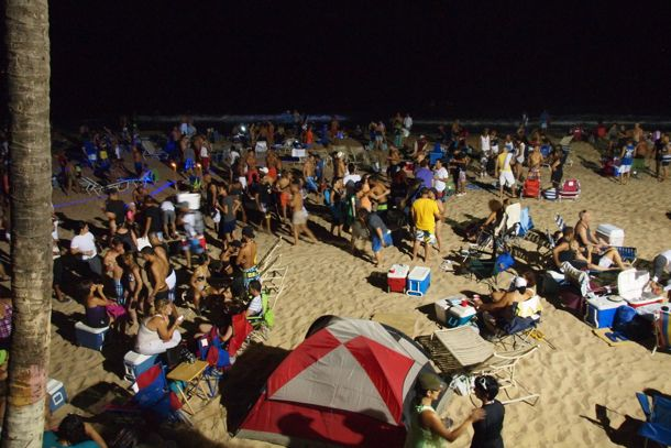 Noche de San Juan 8pm on Condado Beach