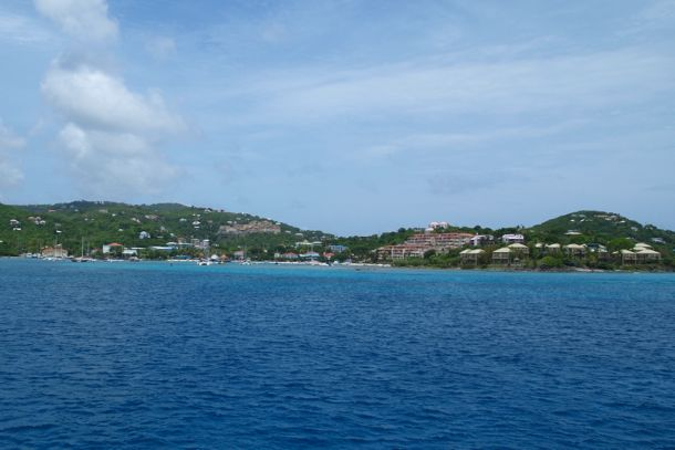 Cruz Bay, dead ahead