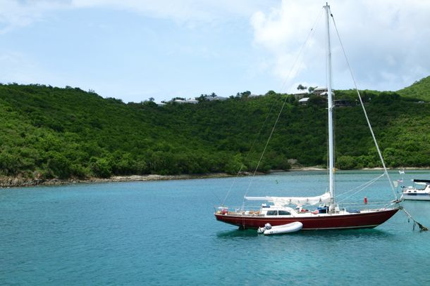 At anchor in Cruz Bay, St. John