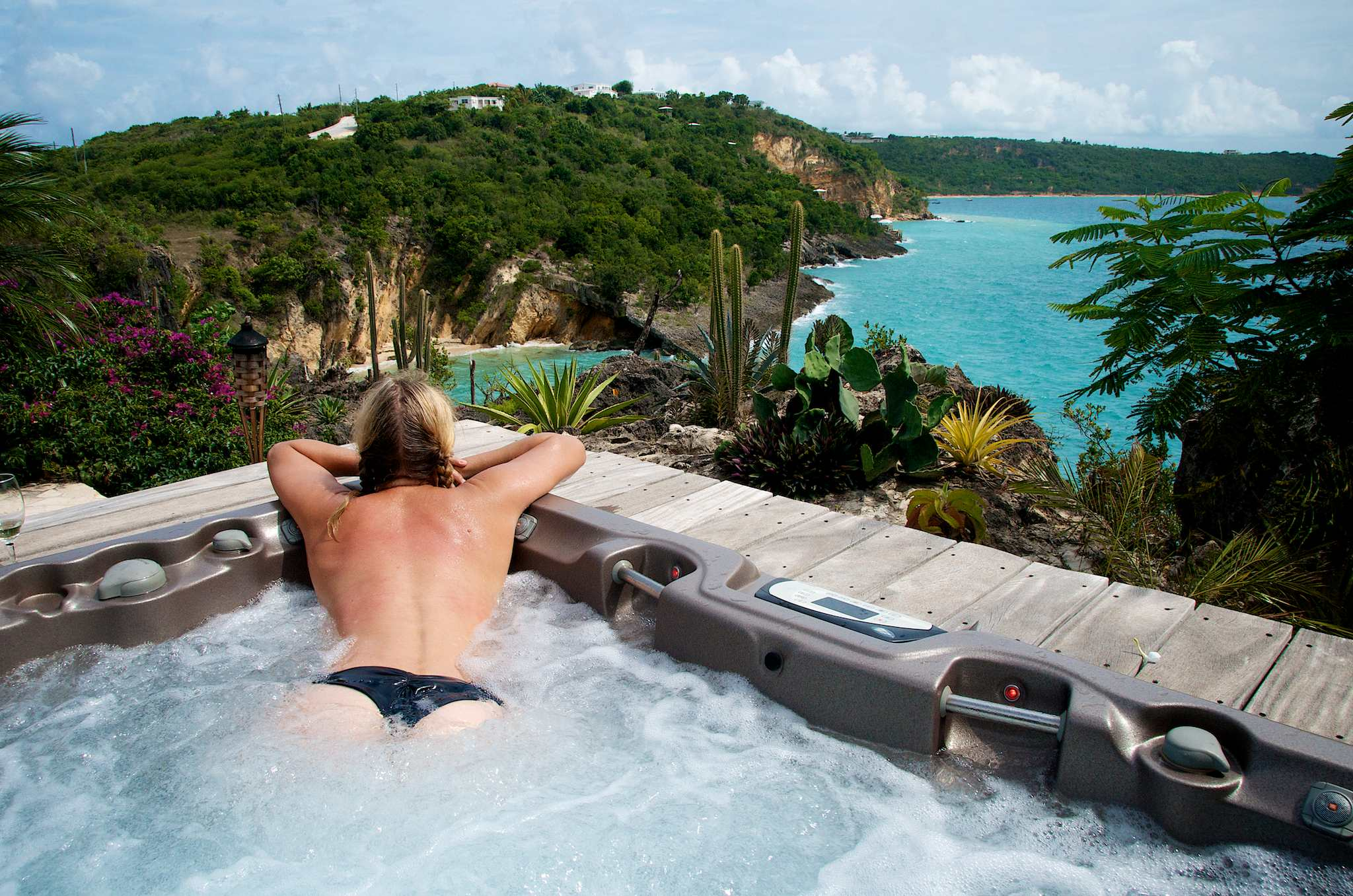Wish You Were Here Chilling In The Hot Tub At Ani Villas