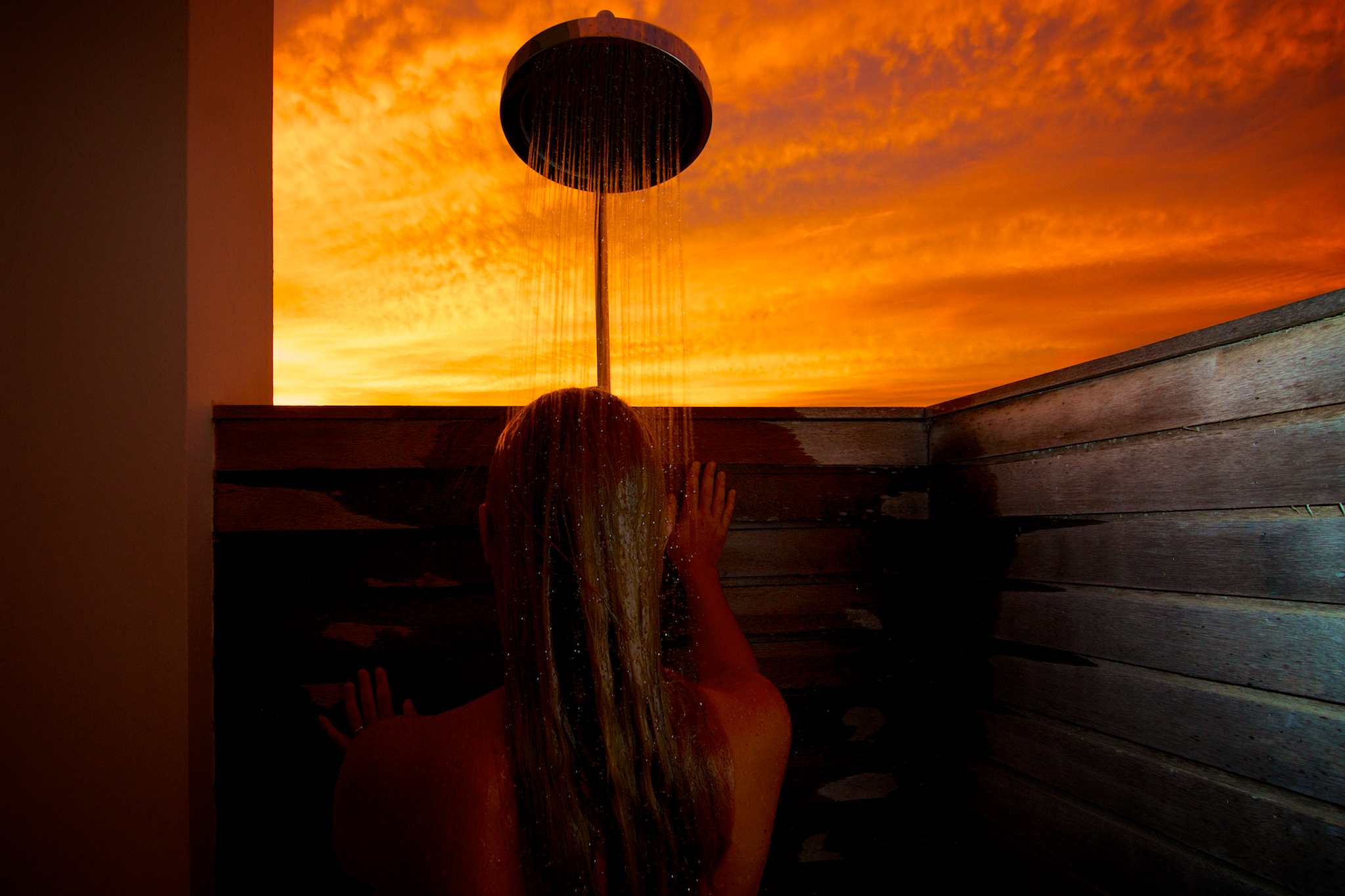 Sunset Shower, Ani Private Resorts: Naked And Outdoors