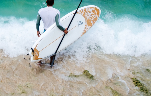 stand up paddle boarding in Barbados by Patrick Bennett