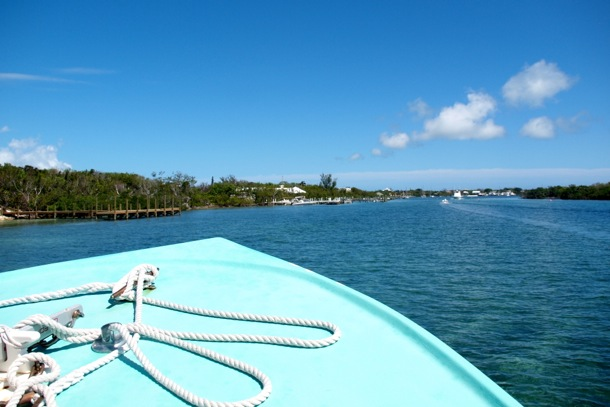 Entering White Sound en route to The Green Turtle Club, Abaco/SBPR