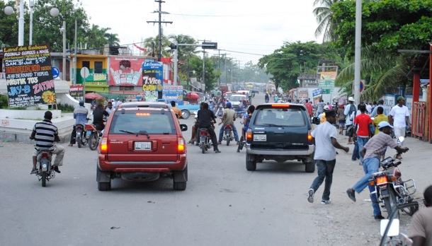 Everyday traffic in Haiti