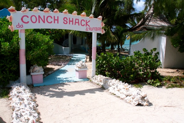 This way to conch, rum, seafood, beach and fun!/SBPR