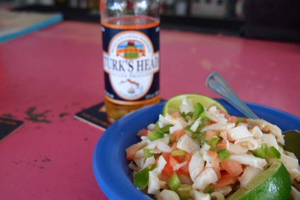 Da conch salad at Da Conch Shack & Rum Bar, Provo/SBPR