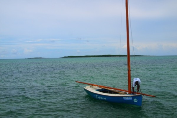 Prepping for a race near Rolleville, Exuma/SBPR