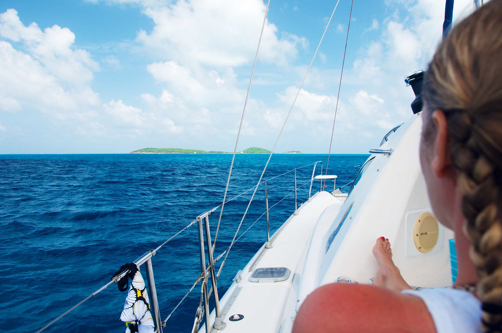 Sailing Toward the Tobago Cays in The Grenadines: Wish You Were Here