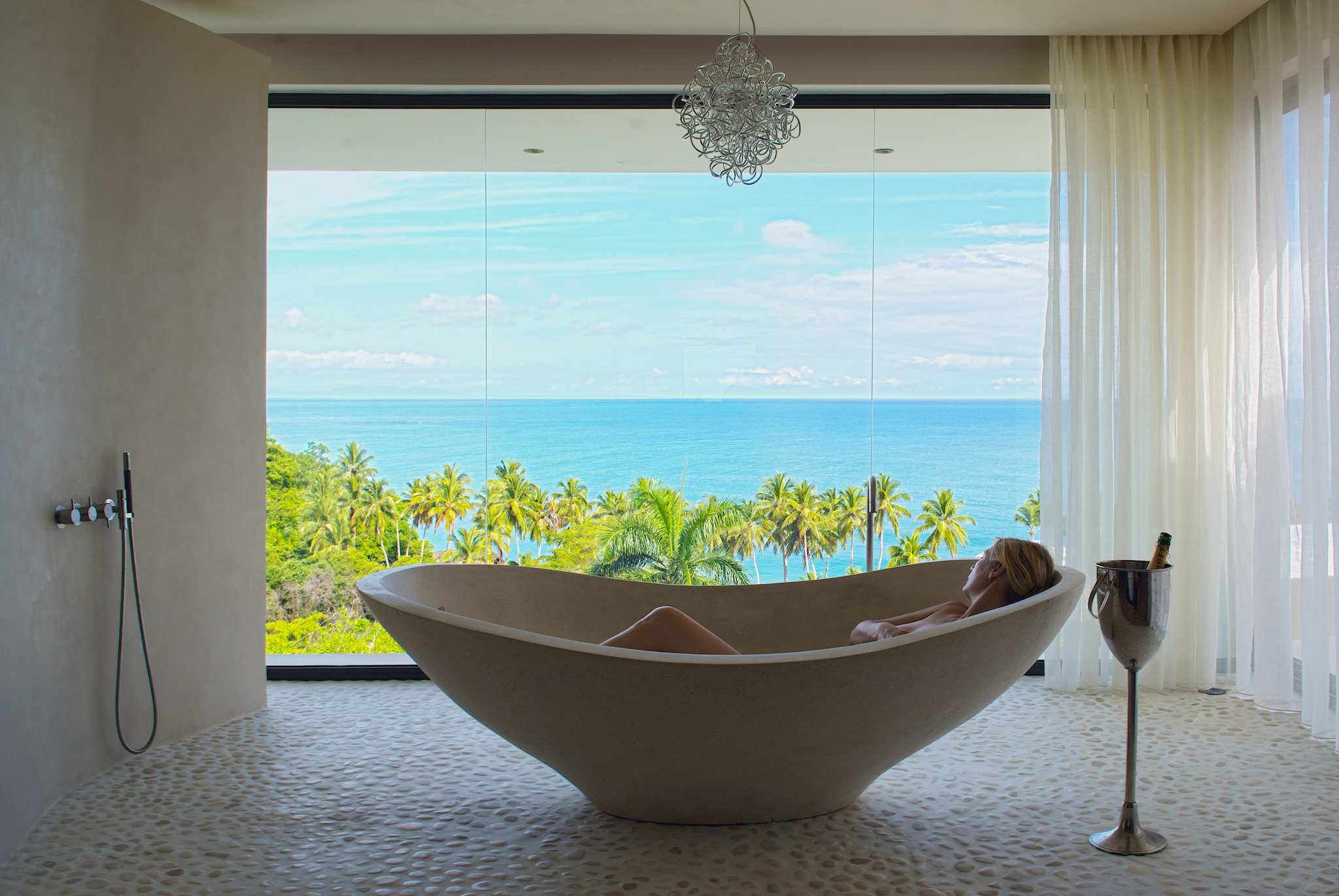 Starting the Day With A Bath Above Las Terrenas: Wish You Were Here