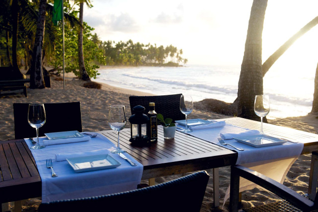 Sublime Hotel Samana al fresco dining on the beach by Patrick Bennett
