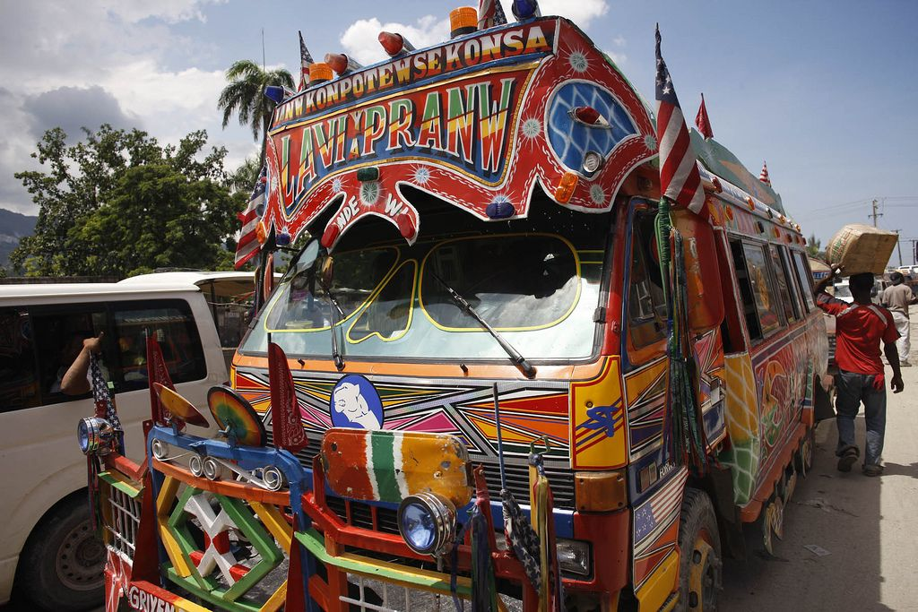 The Lavishly Decorated (and Unsafe?) Tap-Tap Buses of Port-au-Prince: Uncommon Attraction