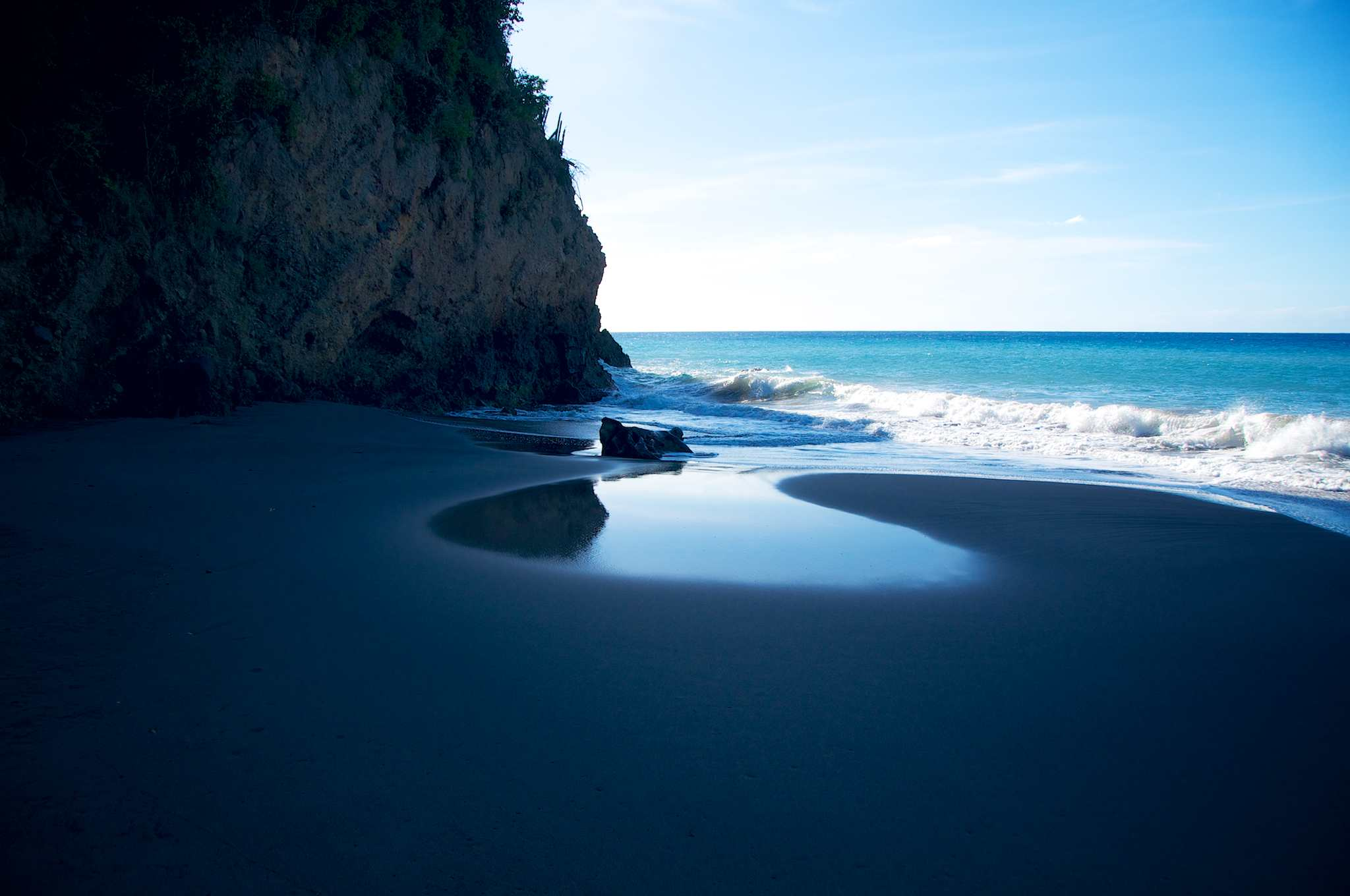 Photo of the day montserrat s beautiful black sand for Black sand beach caribbean