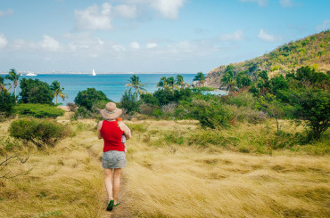 Hiking to Happy Bay St. Martin