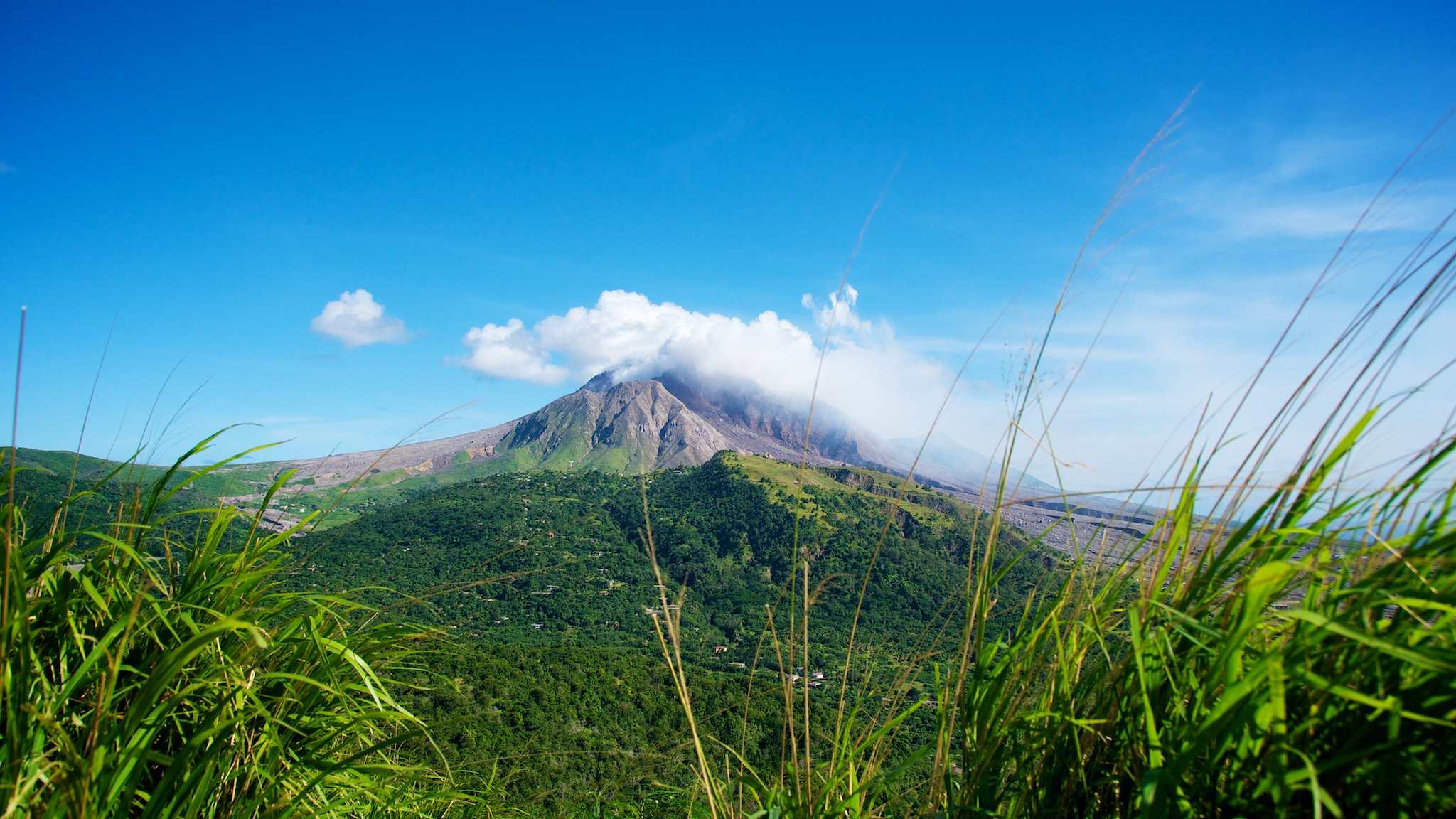 Soufriere Hills Volcano from Garibaldi Hill Montserrat
