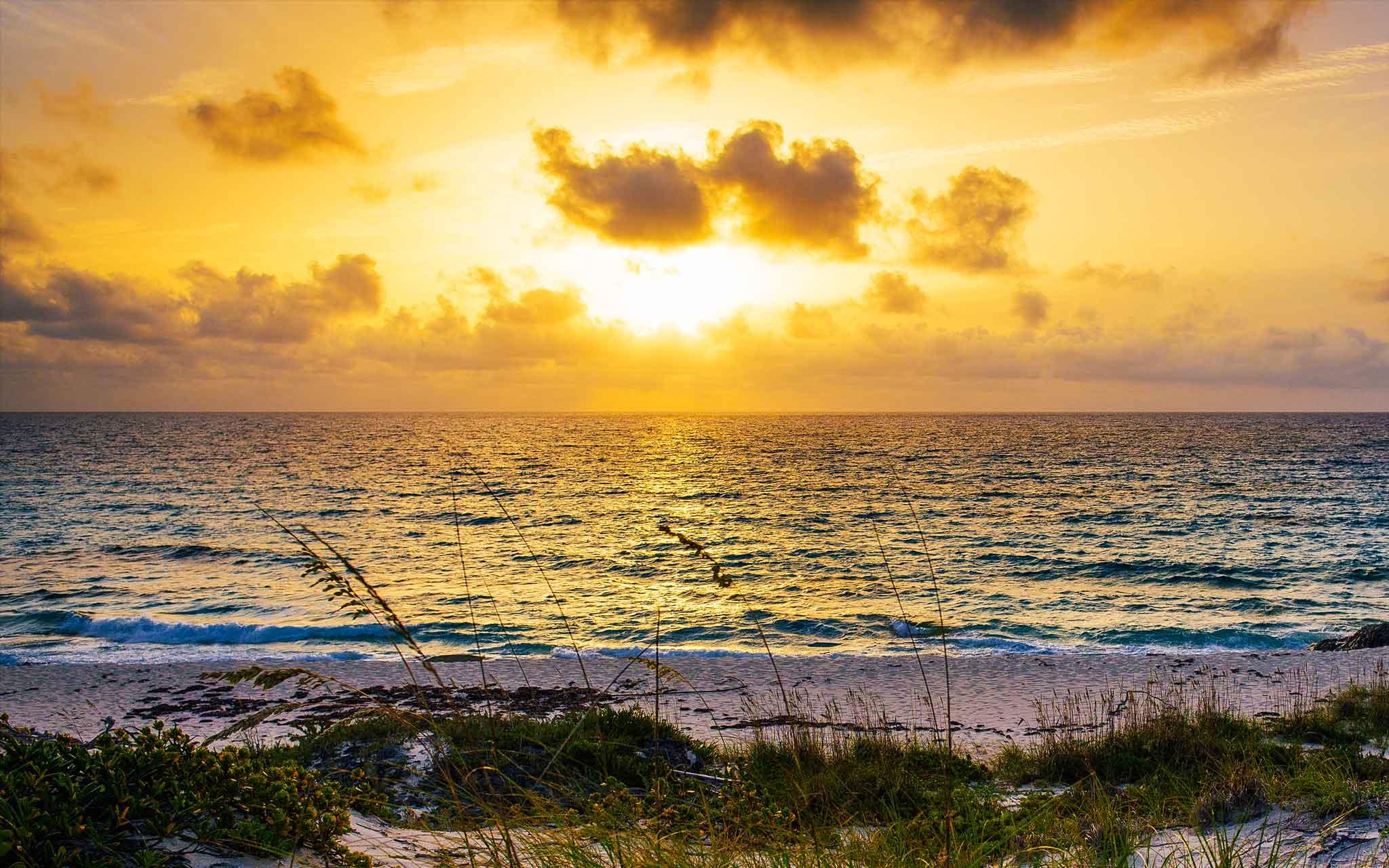 Caribbean Wallpaper Sunrise Over Teeny Tiny Staniel Cay