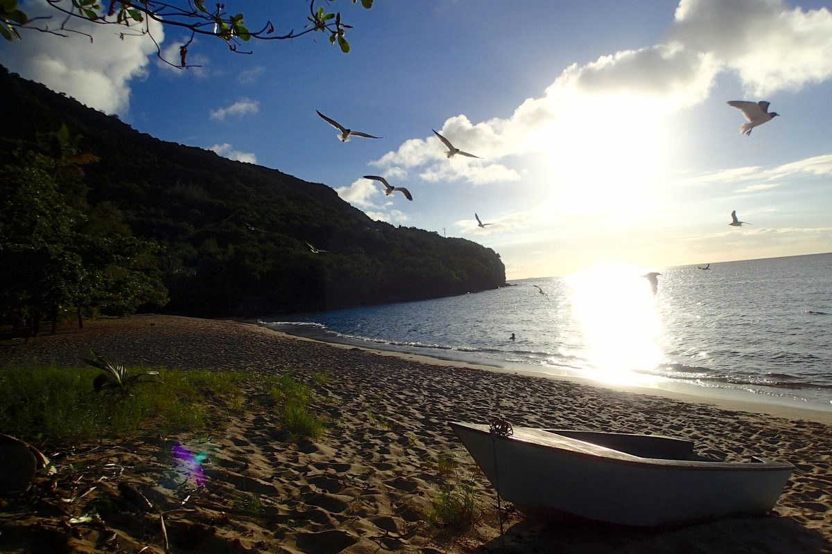 Sunday sunset on Lower Bay, Bequia | SBPR