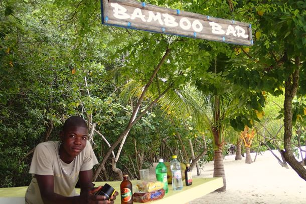 Bamboo Bar on Cadrasse Beach, Haiti | SBPR