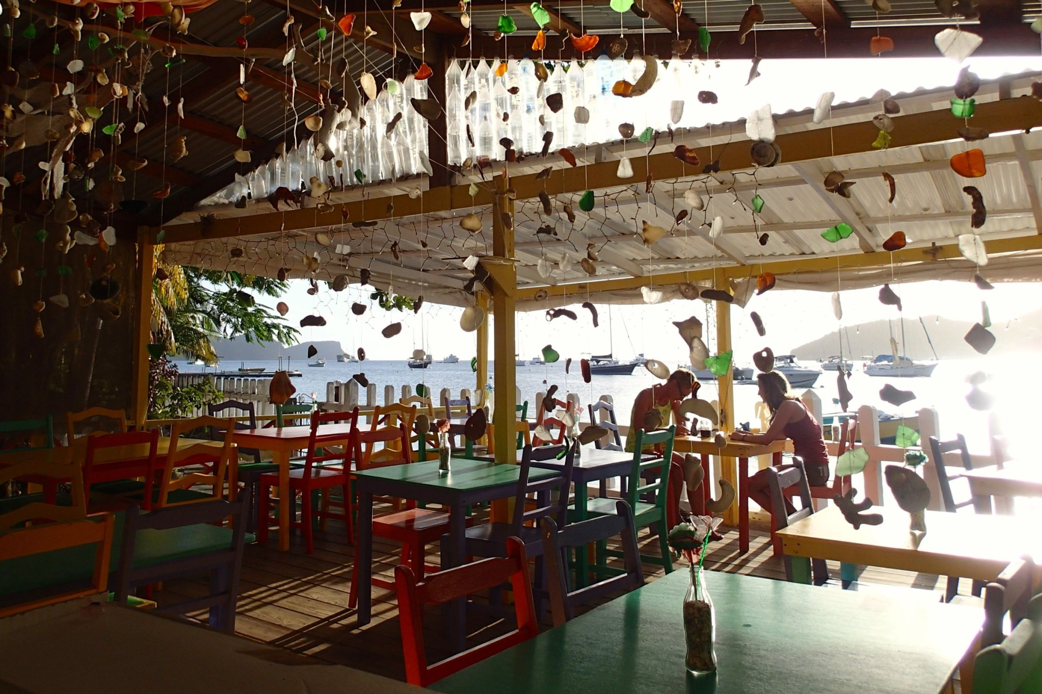 Settling in for Sunset Happy Hour at Tommy's Bar in Bequia: Wish You Were Here