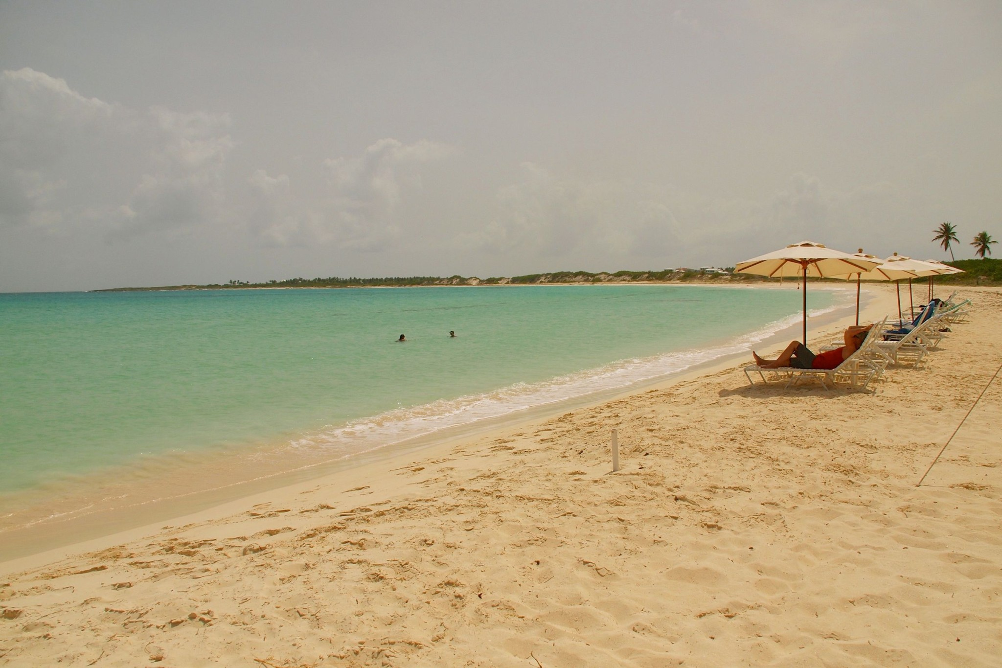 Lounging Off A Great Lunch at Smokey's on Cove Bay, Anguilla