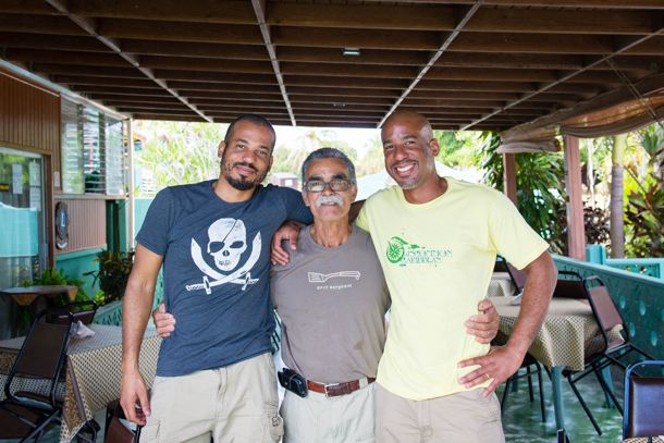 Hanging with JT, aka Don Bigote, at Villa Morales, St. Croix