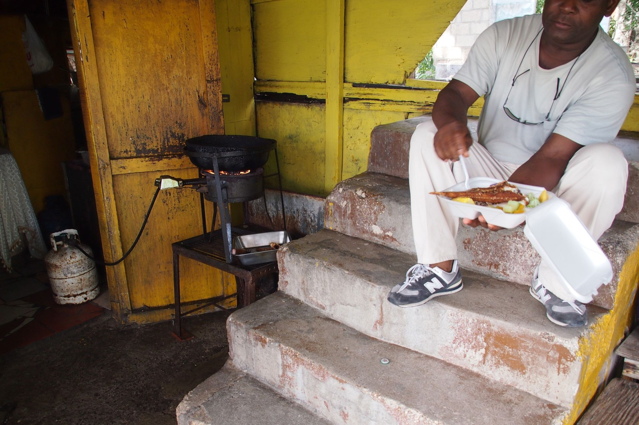 Cavell's Cook Shop, Antigua: For Real Island Food, Sit on the Steps
