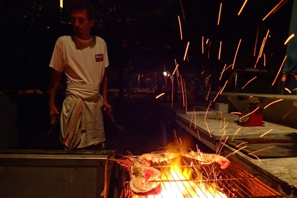 Lobster on the grill at Le Petibonum, Martinique | SBPR