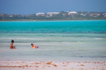 Sitting surfside in Provo, TCI | SBPR
