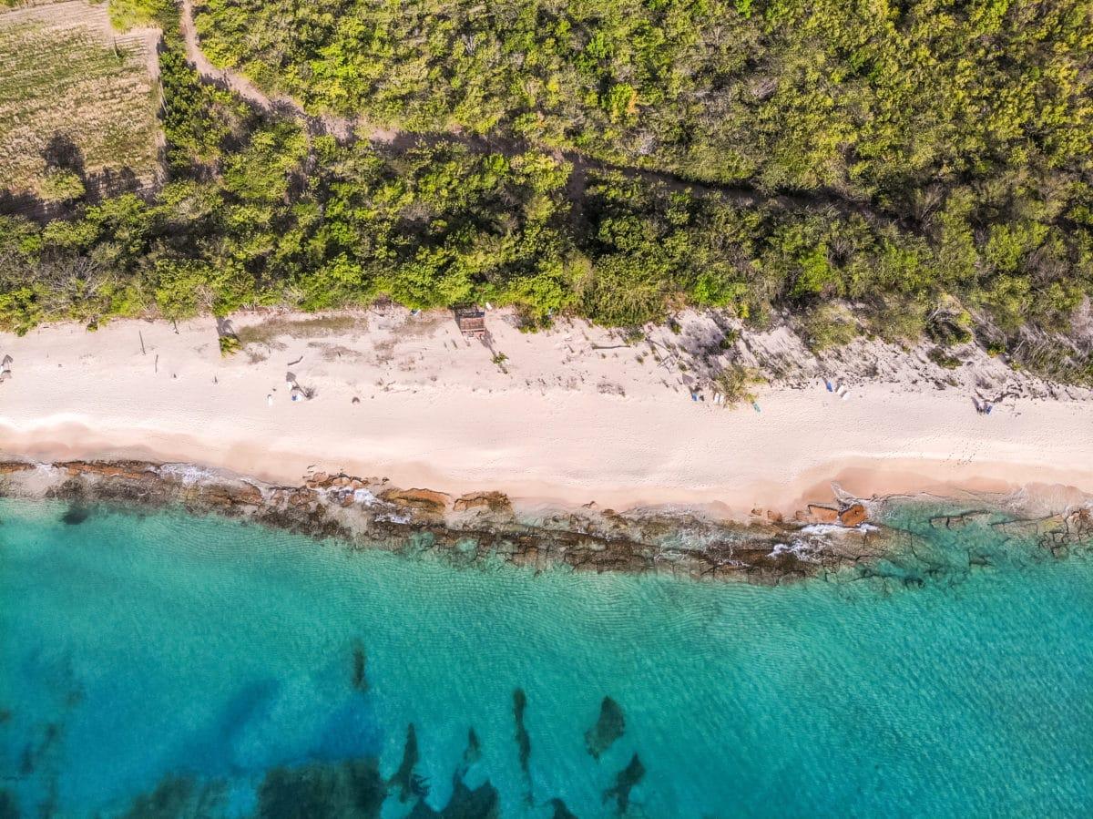 Antigua Nude Beach - Eden Beach from above