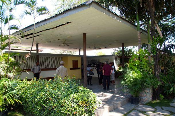 Rhum Barbancourt Tours start here in this garden reception area | SBPR