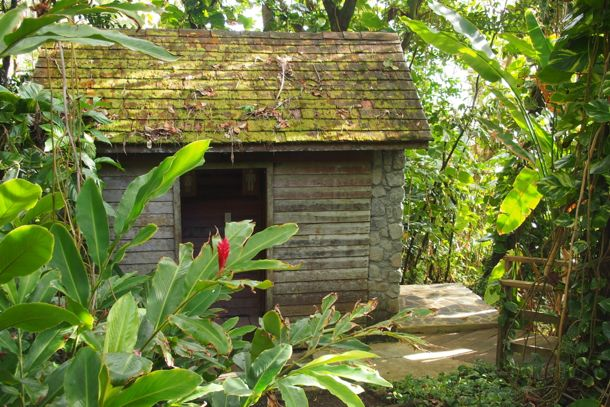 Restrooms just opposite the Pavilion at Jungle Bay, Dominica | SBPR