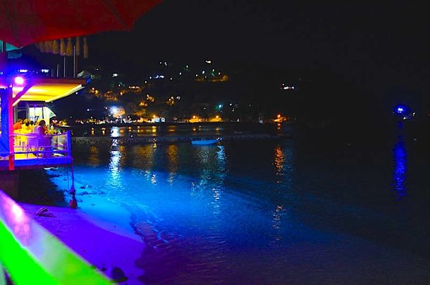 Deshaies Harbor, Guadeloupe, at night | Credit: Zickie Allgrove