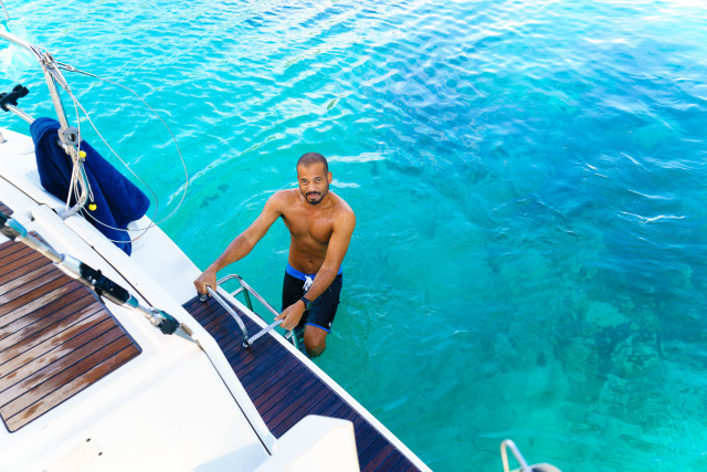 Washing up while sailing the Grenadines