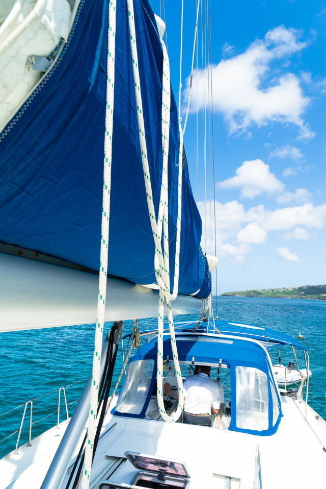 learning to sail in the grenadines by Patrick Bennett